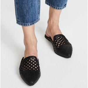 🆕NWT Sam Edelman Genuine Leather Woven Slides